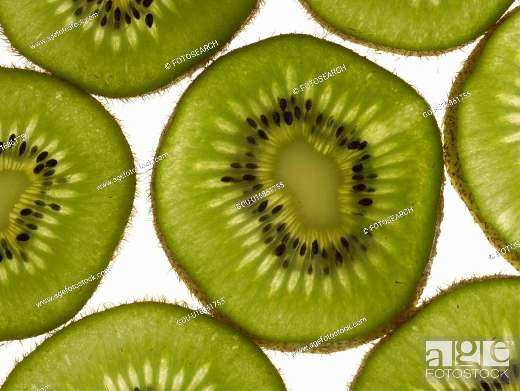 Stock Photo: plant, kiwi, fruit, plants, slice.