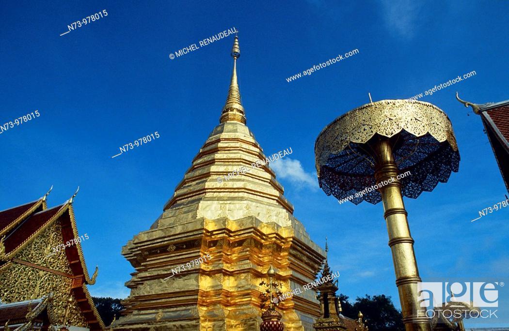 Stock Photo: Thaïlande, province de Chiang Mai, ville de Chiang Mai, Temple Doï Suthep.