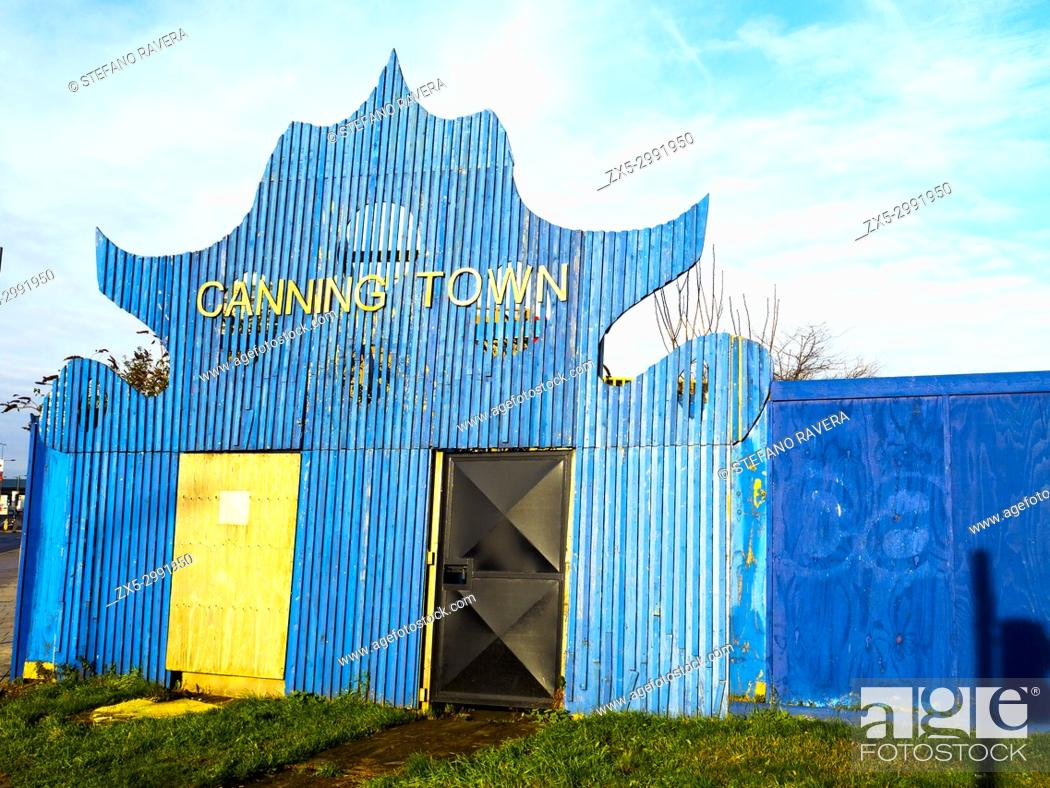 Stock Photo: Gate in Canning Town - London, England.