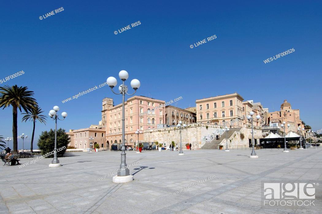 Stock Photo: Italy, Sardinia, Cagliari, View of Bastione di San Remy.