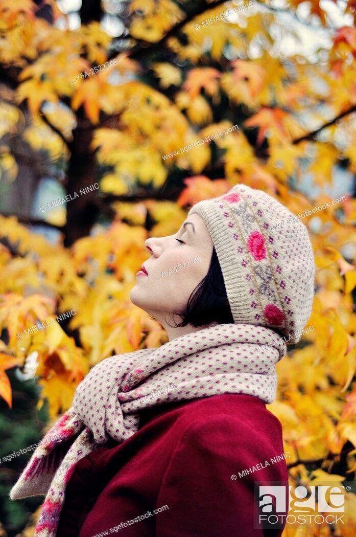 Stock Photo: Woman enjoying life.