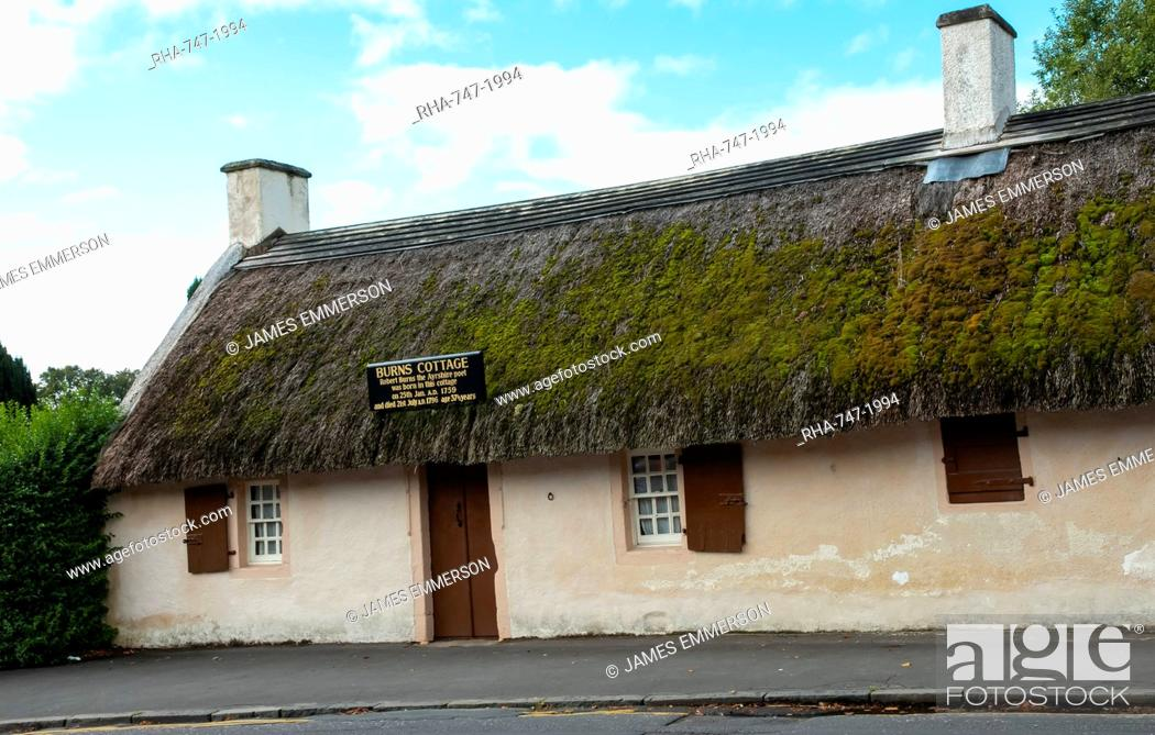 Stock Photo: Robert Burns Birthplace, Ayr, Ayrshire, Scotland, United Kingdom, Europe.
