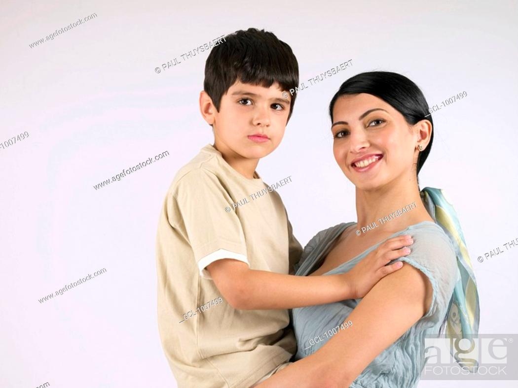 Stock Photo: Mother and Son.
