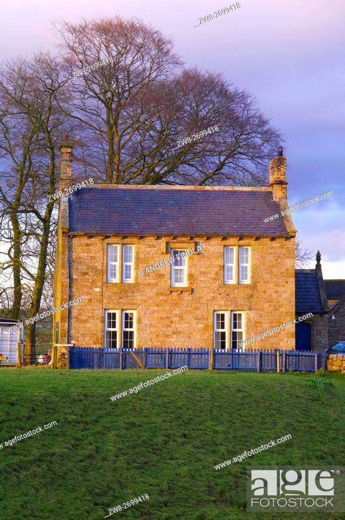 Stock Photo: Leahill a farm near Hadrian's Wall, Cumbria, England, United Kingdom, Europe.