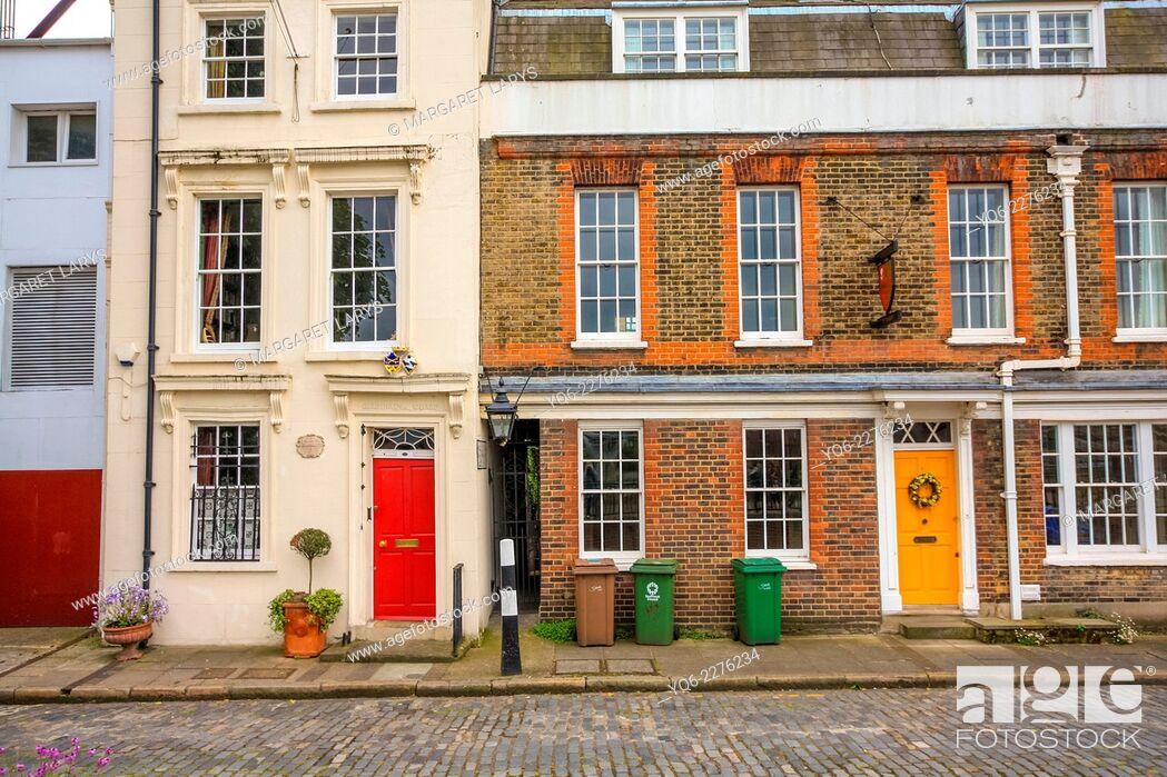 Stock Photo: Apartment Block in London, UK.