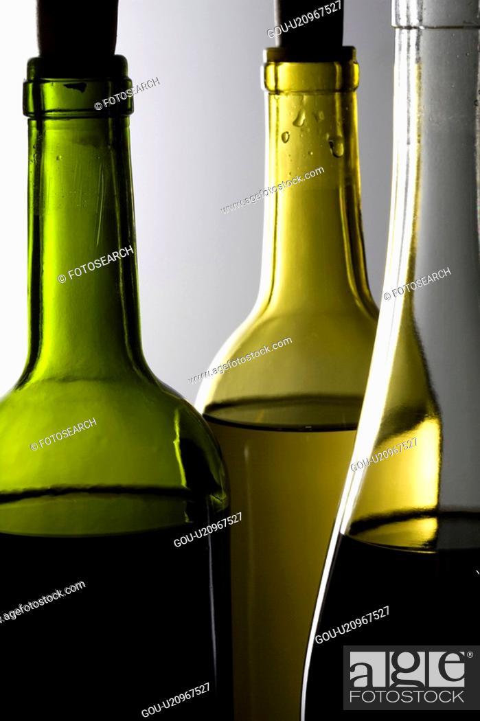 Stock Photo: Bottle of wine.