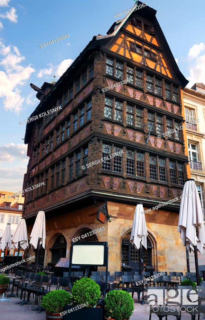 Photo de stock: Restaurant near House of Kammerzell in Strasbourg, France.