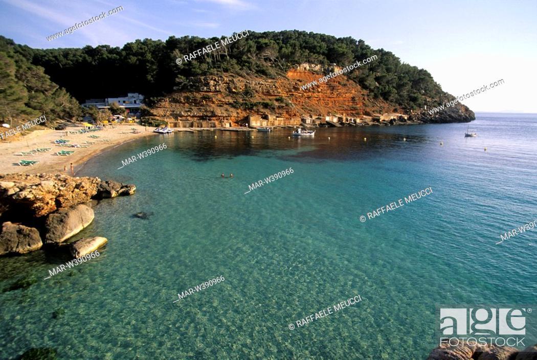 Cala Salada Ibiza Mapa.Cala Salada Ibiza Baleari Spain Stock Photo Picture And