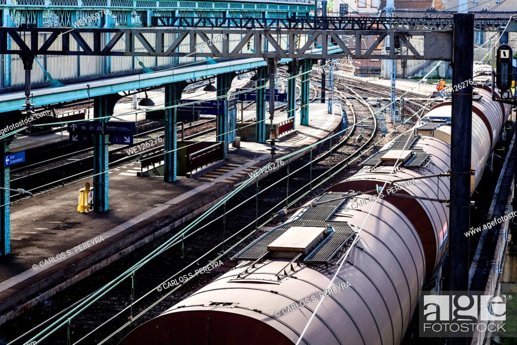 Stock Photo: Lyon-Perrache Train Station in Lyon, France, Europe.