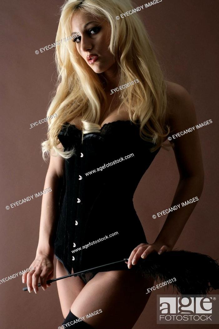 Stock Photo: Portrait of a woman wearing lingerie.