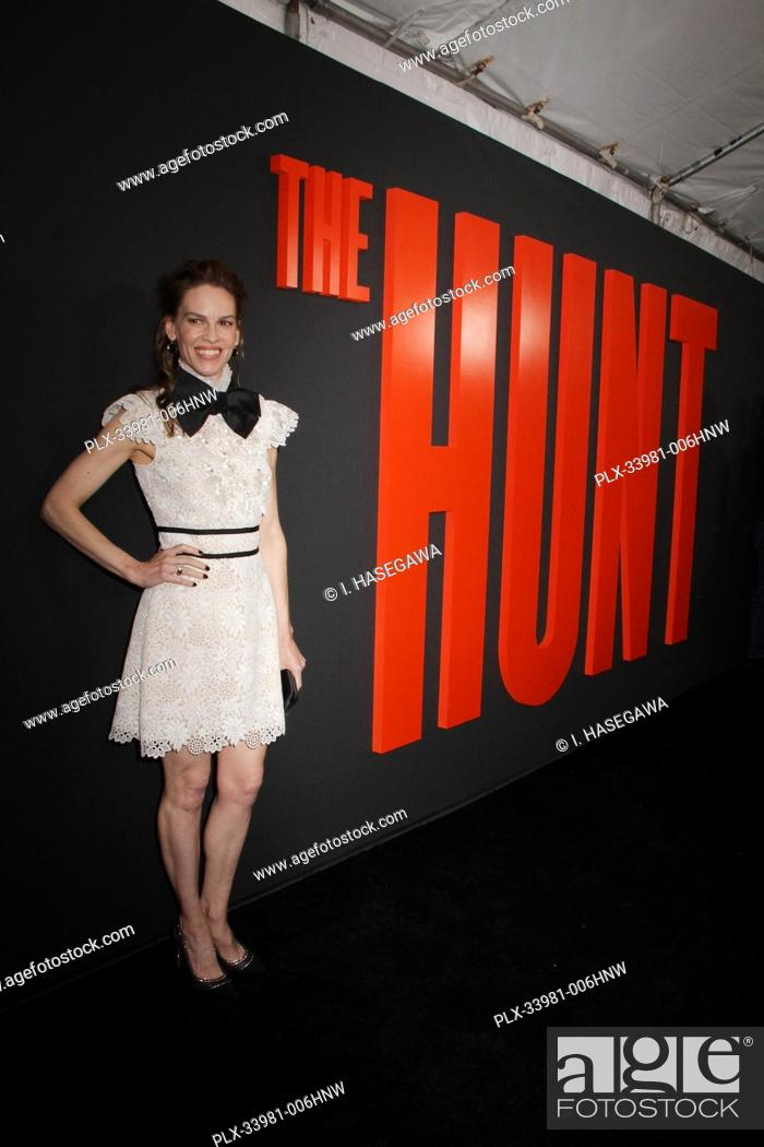 "Stock Photo: Hilary Swank 03/09/2020 The Special Screening of """"The Hunt"""" held at The ArcLight Hollywood in Los Angeles, CA. Photo by I."