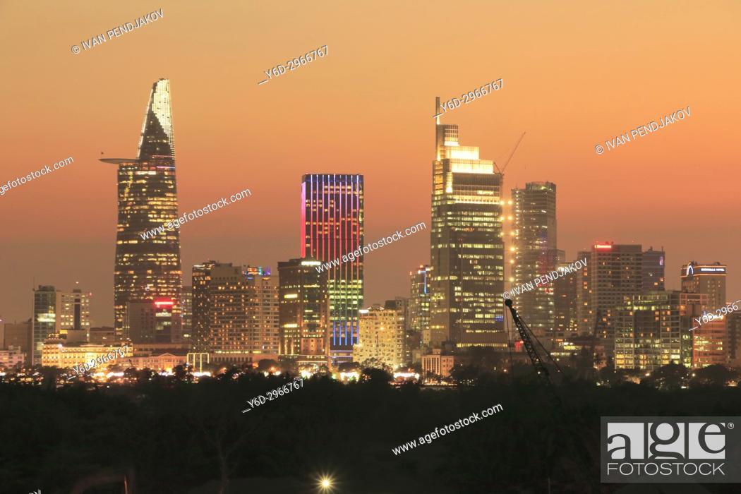 Stock Photo: Ho Chi Minh City at Sunset, Vietnam.