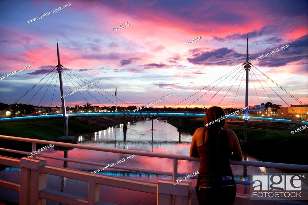 Stock Photo: Río Acre a su paso por Río Branco.