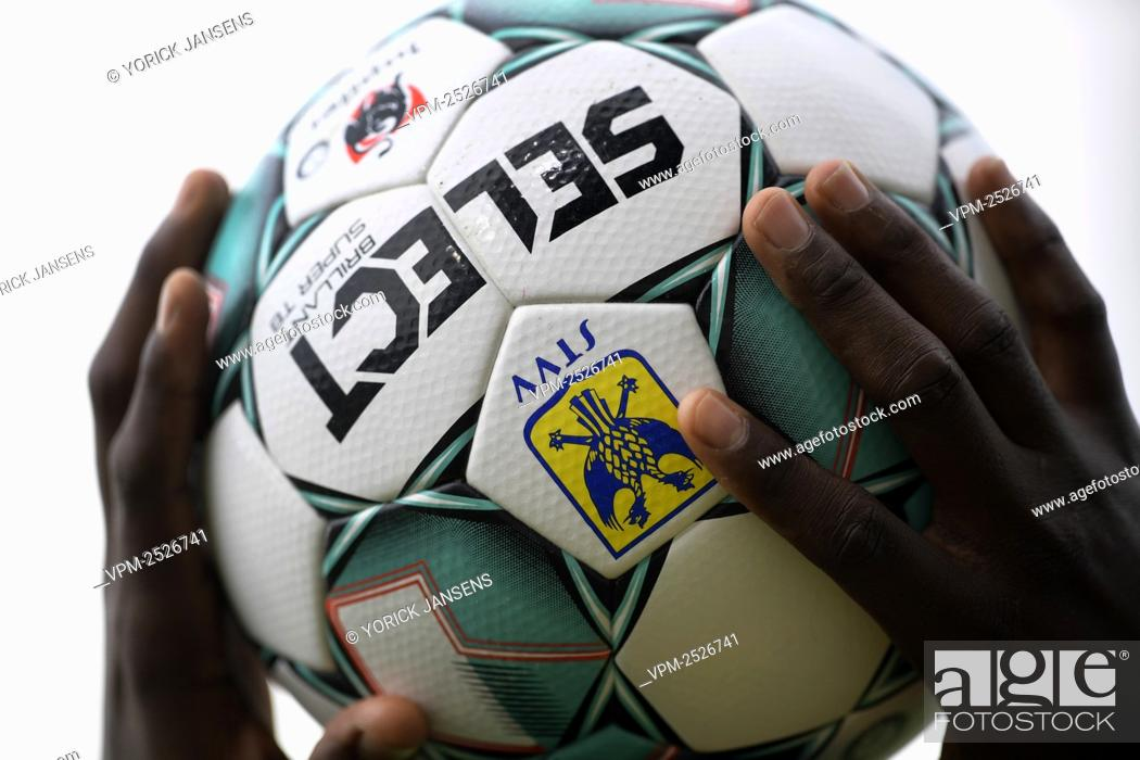 Stock Photo: Illustration picture shows the official match ball during the Jupiler Pro League match between STVV and KAA Gent, in Sint-Truiden, Sunday 09 August 2020.