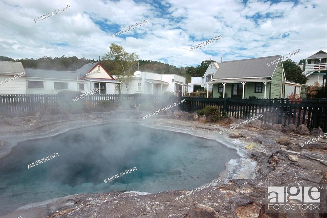 Stock Photo: New Zealand - North Island - Bay of Plenty - Rotorua - Whakarewarewa Thermal village.