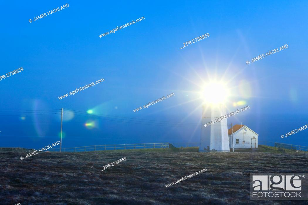 Stock Photo: The lighthouse at Cape St. Mary's Ecological Reserve, Newfoundland, Canada.