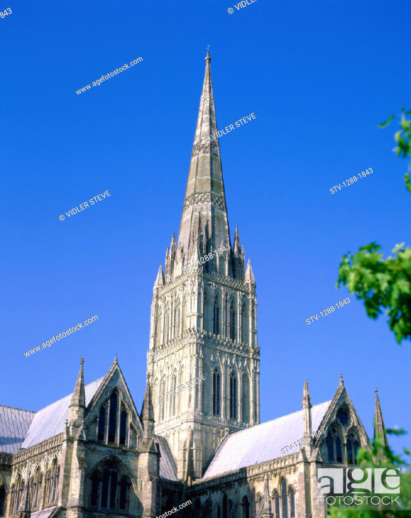 Imagen: Cathedral, Church, England, United Kingdom, Great Britain, Europe, Holiday, Landmark, Salisbury, Tourism, Tower, Travel, Vacatio.