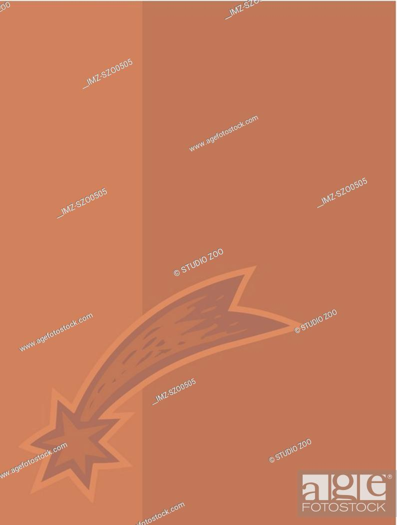 Stock Photo: Shooting star on taupe background.
