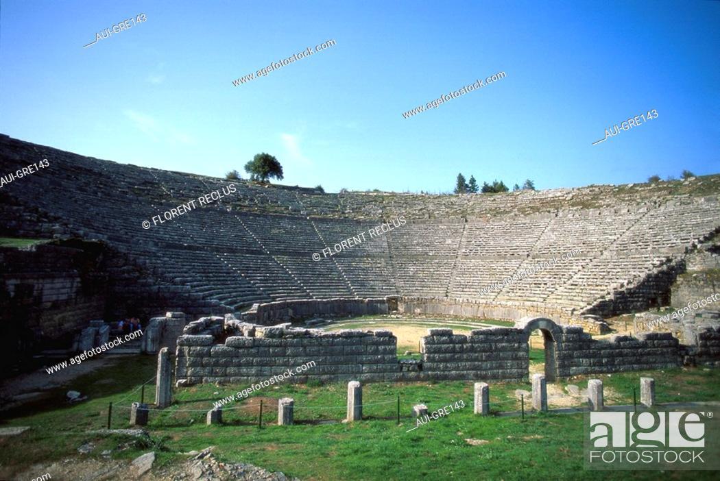 Stock Photo: Greece - Epirus - Dodona - Theatre.