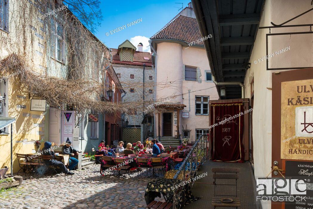 Stock Photo: Master's Courtyard, Tallin, Estonia.