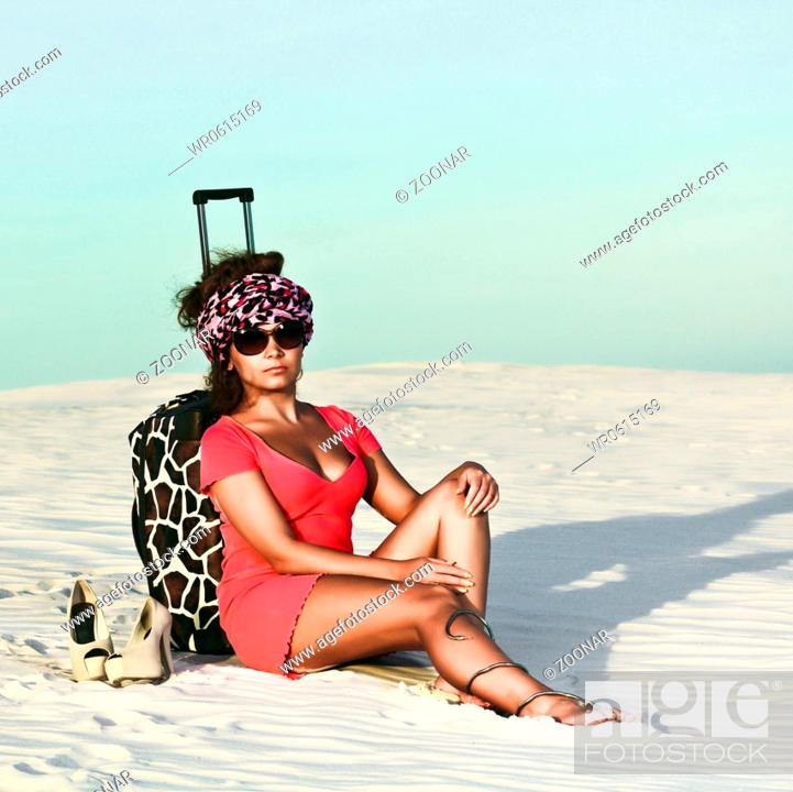 Stock Photo: Woman in desert.