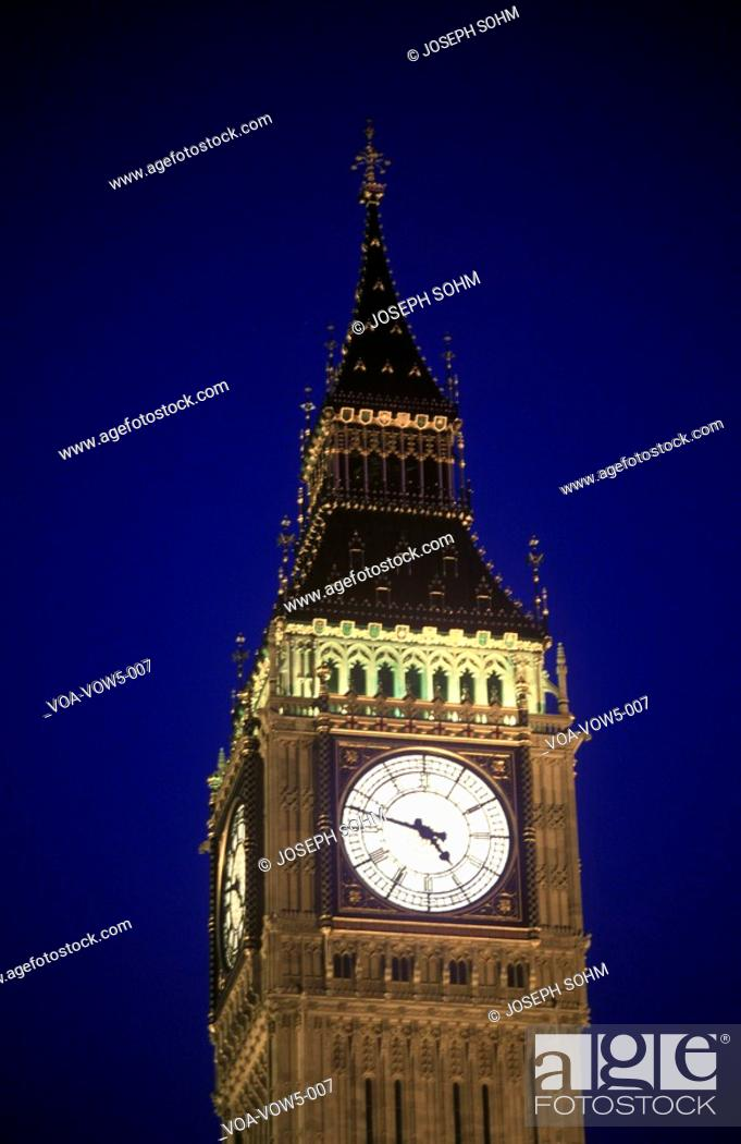 Stock Photo: Big Ben Tower at sunset in London, England.