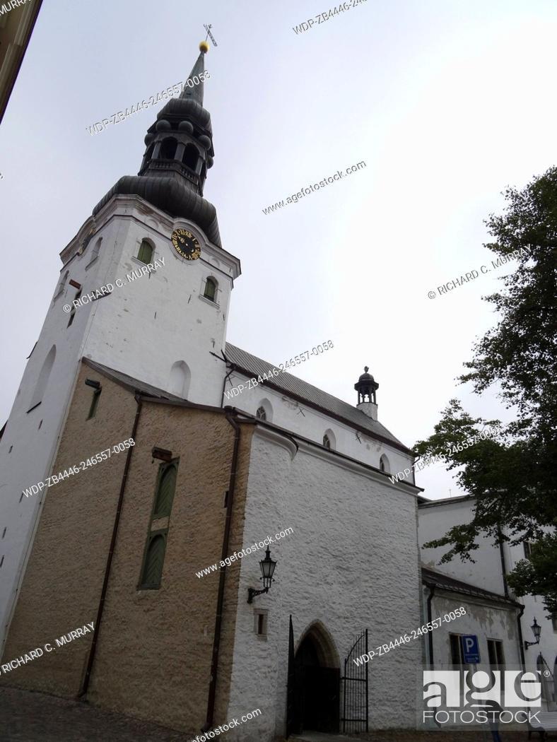 Stock Photo: St. Mary's Luthern Cathedral of Tallinn (13th Century) Estonian Evangelical Lutheran Church-Tallinn, Estonia.