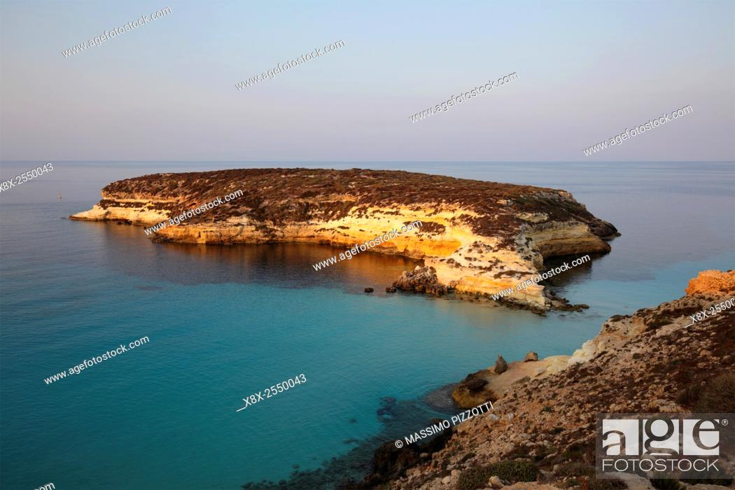 Stock Photo: Island of Rabbits in Lampedusa, Sicily, Italy.