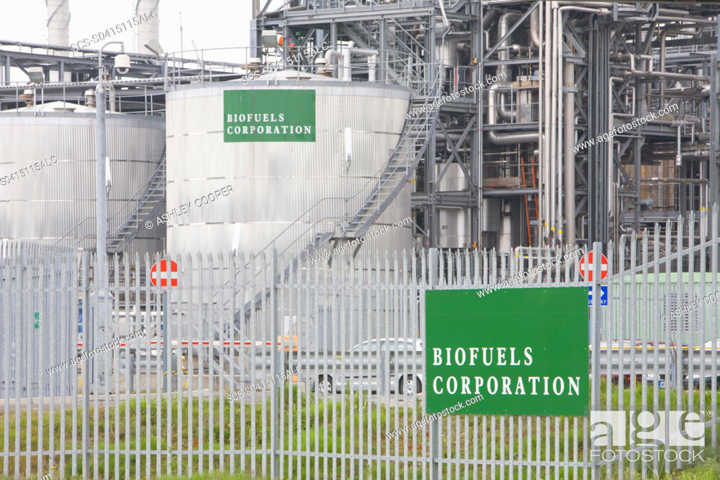 Stock Photo: A biodiesel refinery plant on Teeside UK.