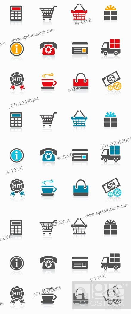 Stock Photo: shopping icon.