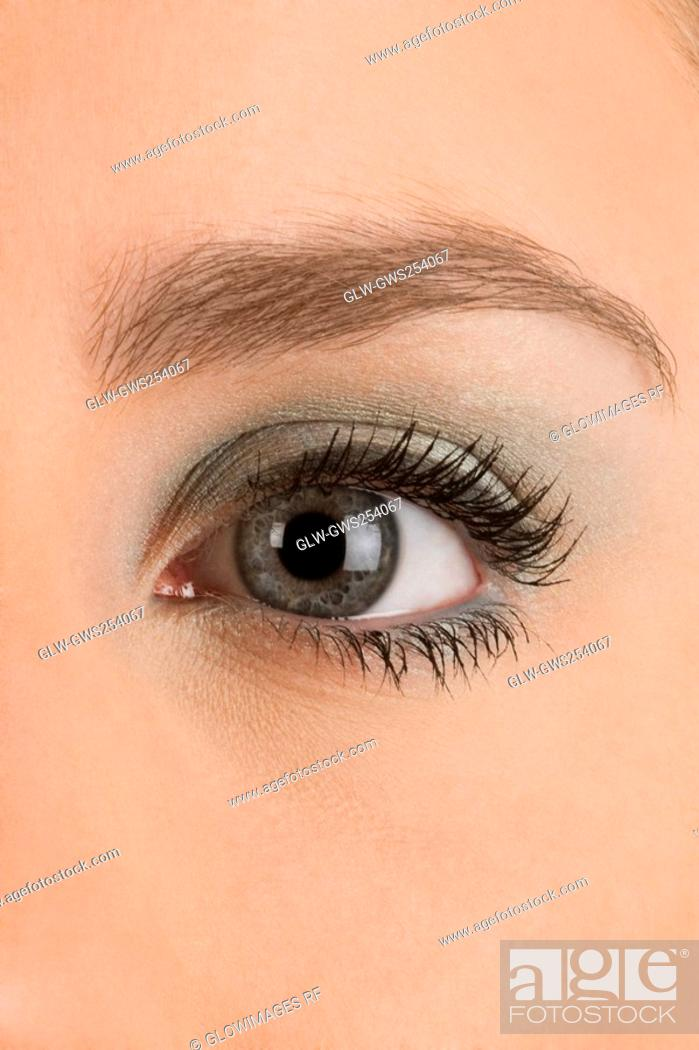 Stock Photo: Close-up of a young woman's eye.