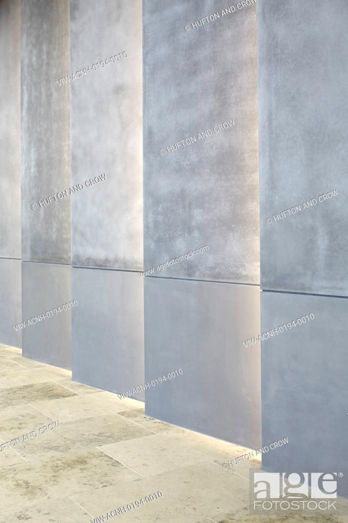 Stock Photo: Internal wall cladding with inserted lighting. Moorgate Exchange, London, United Kingdom. Architect: HKR Architects, 2015.