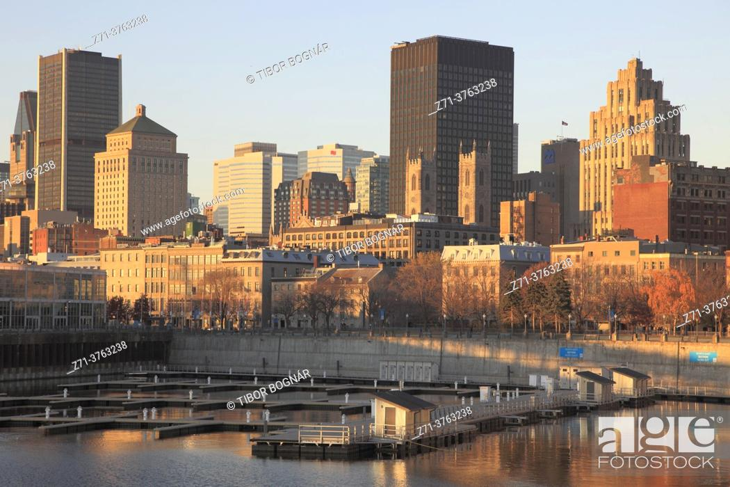 Stock Photo: Canada, Quebec, Montreal, Old Port, Vieux Port, skyline, .