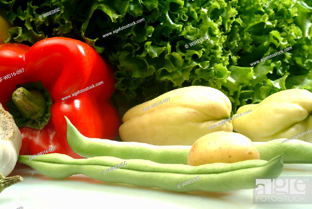 Stock Photo: Food, vegetables, several.