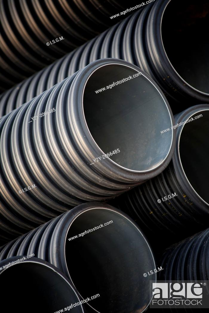 Stock Photo: Construction pipes.