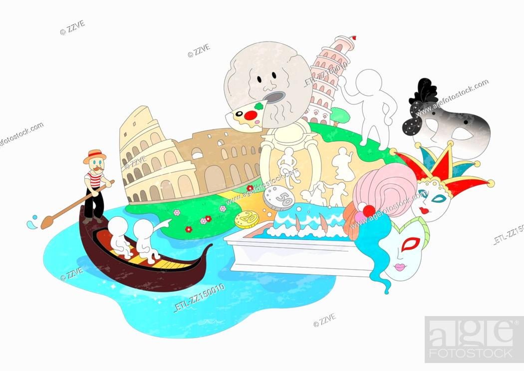Stock Photo: Attractions of rome.