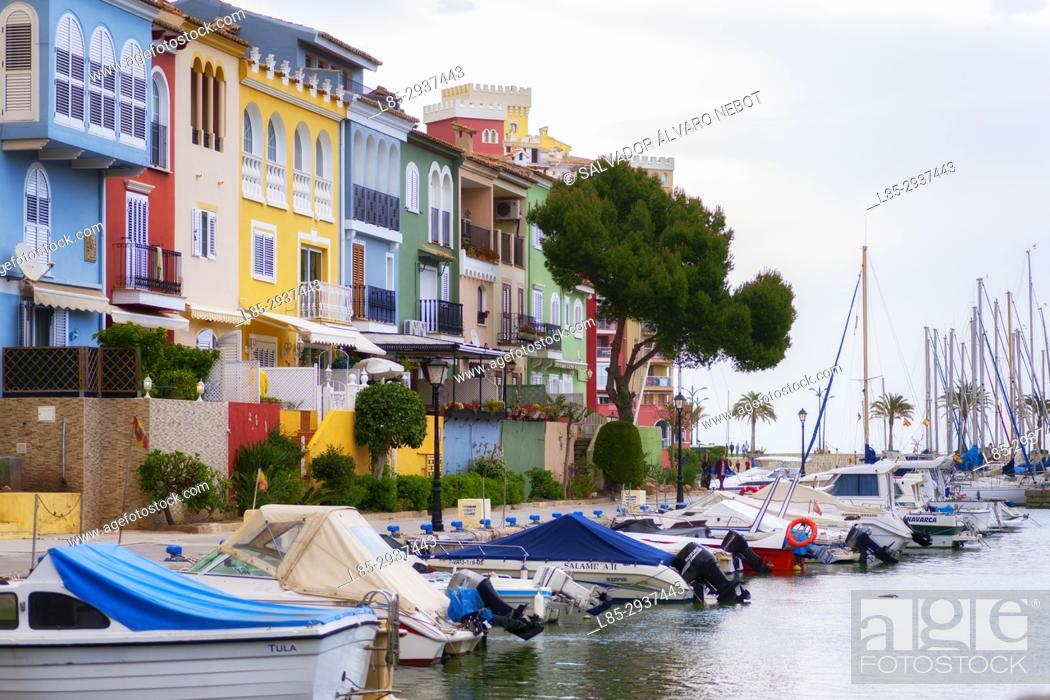 Imagen: Sports harbor, Port Saplaya, Valencia, Spain. Europe.