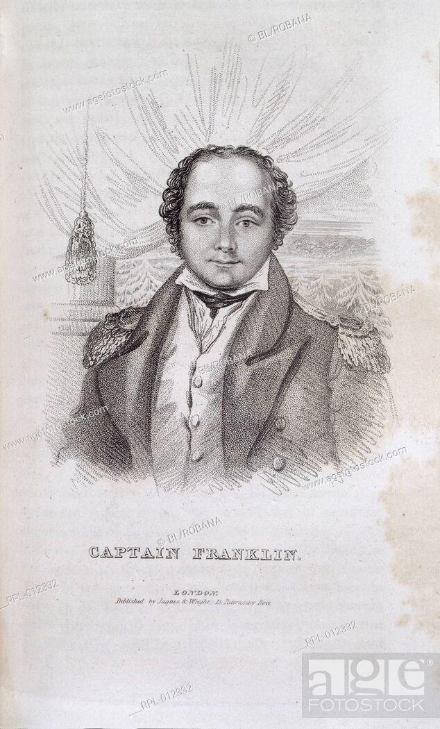 Imagen: Sir John Franklin  1786-1847 . English explorer. Portrait. Image taken from Captain Franklin's Journey to the Polar Sea. In Dennett John F.
