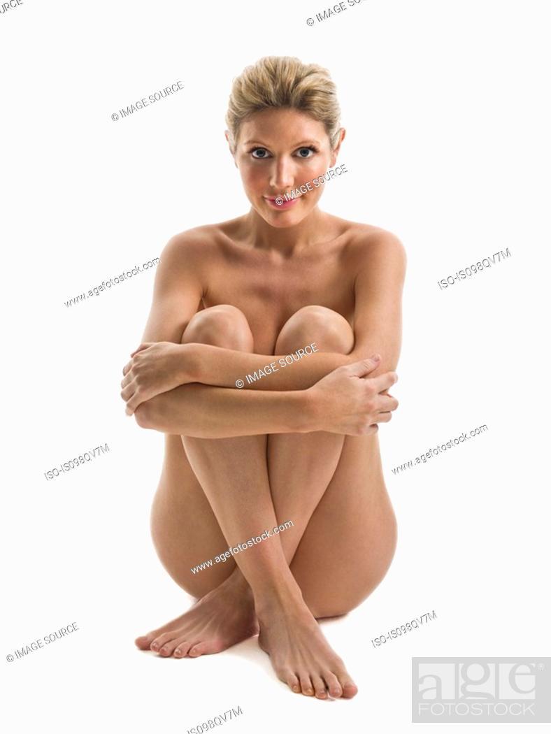 Stock Photo: Nude woman sitting.