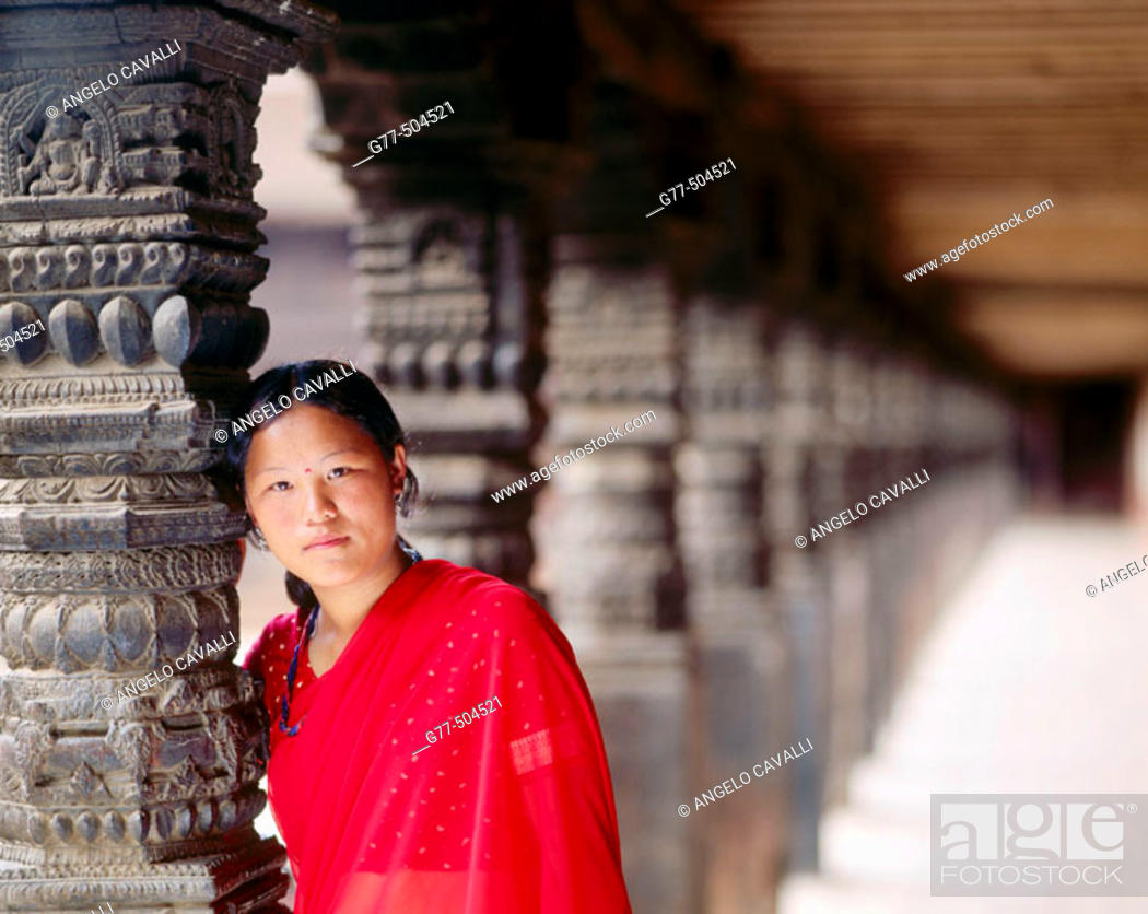 Stock Photo: Nepalese woman. Bhaktapur. Kathmandu valley. Nepal.