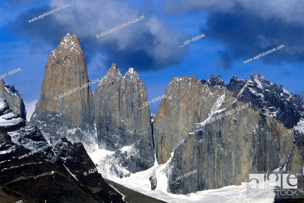 Stock Photo: Torres del Paine National Park. Chile.
