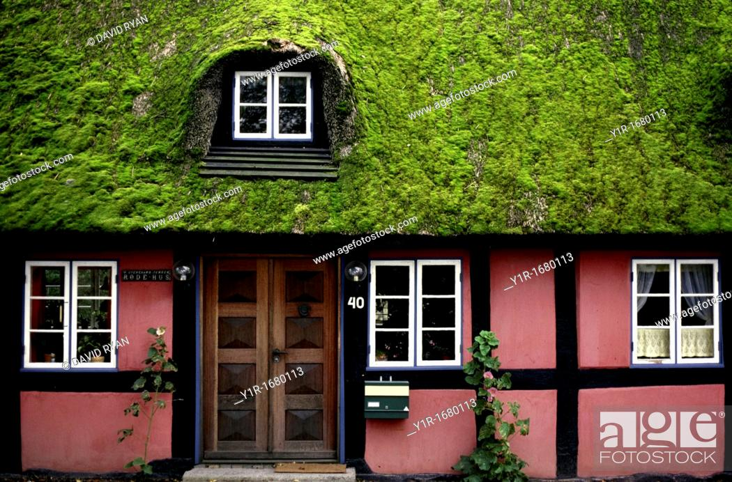 Stock Photo: Denmark, Near Lejre, Half-timbered house.