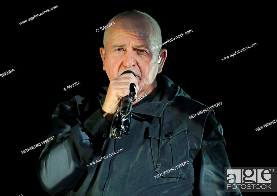Peter Gabriel performing live on stage on his 'Back to Front