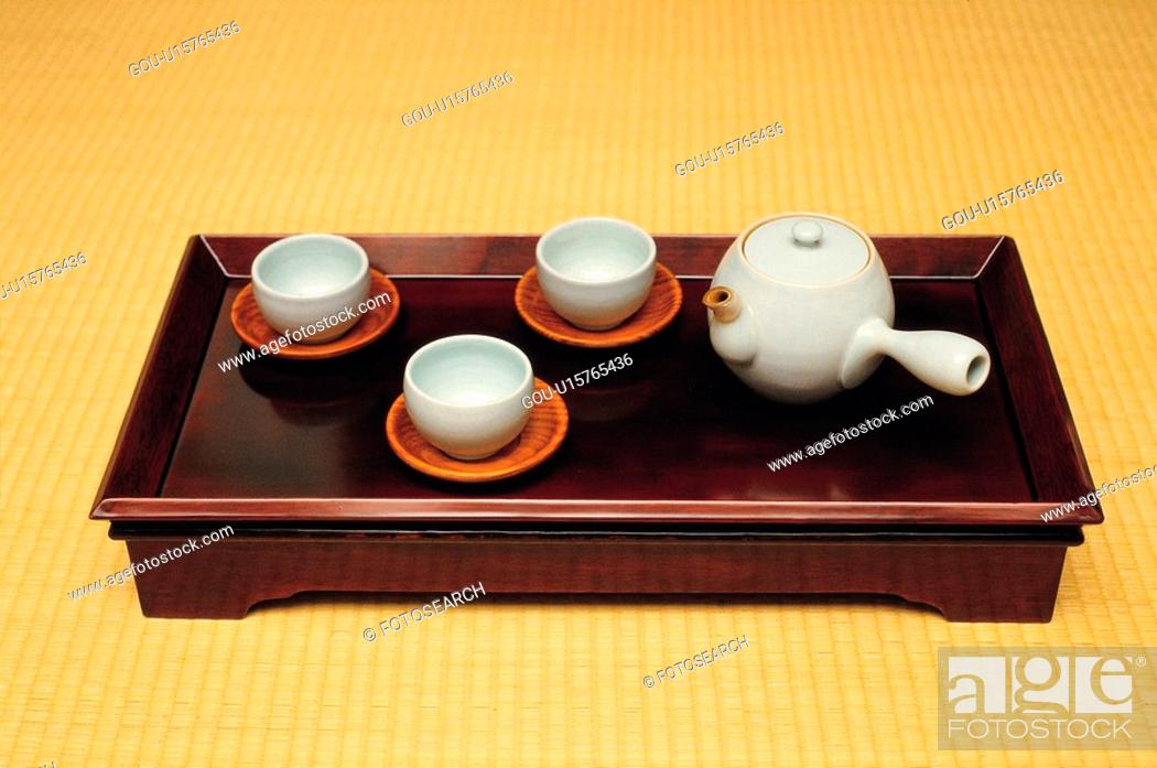 Stock Photo: tea, house item, teatable, tradition, ceramics.