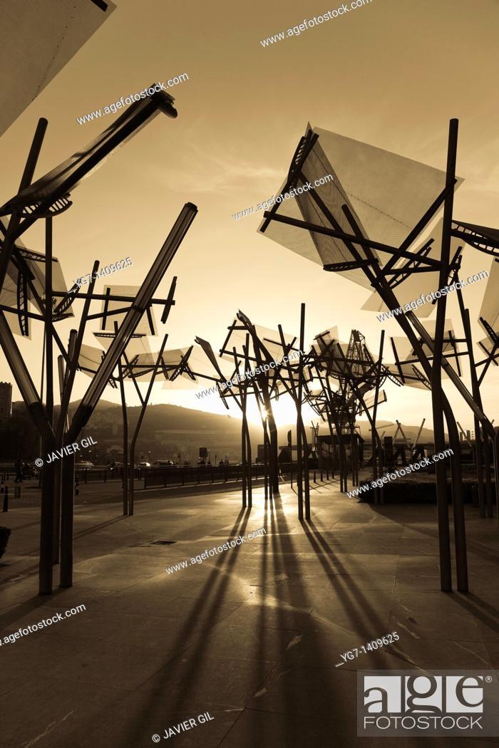 Stock Photo: Euskalduna palace, Bilbao, Bizkaia, Spain.