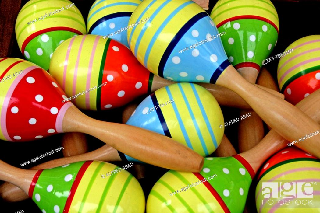 Stock Photo: Rattles, maracas, toys.