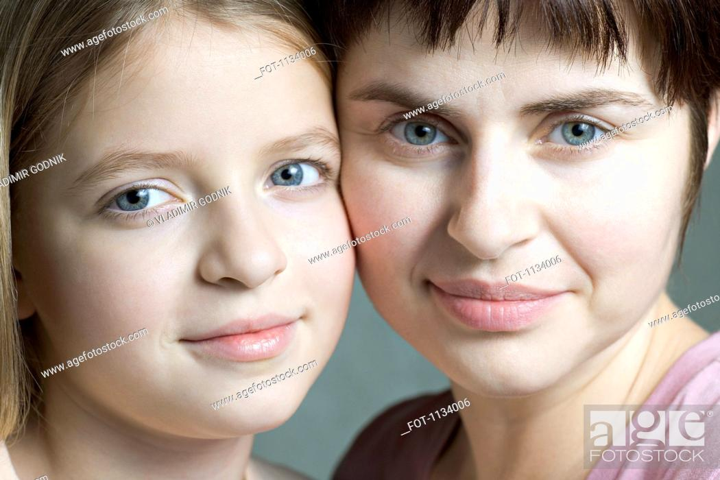Stock Photo: Mother and daughter portrait.