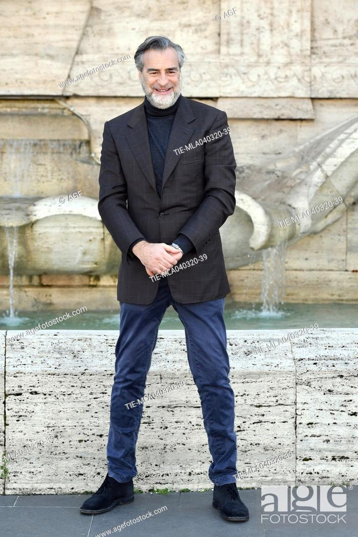 Stock Photo: Max Tortora during 'La volta buona' film photocall, Rome, 04/03/2020.