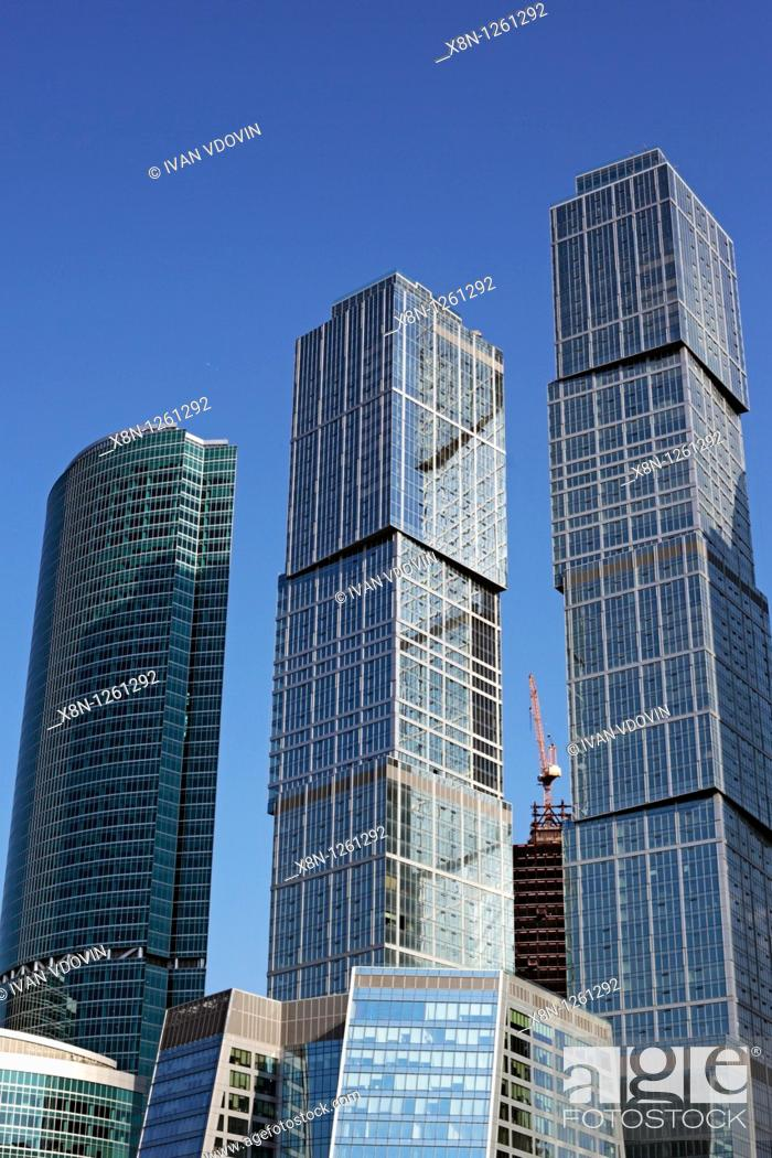 Stock Photo: Moscow International Business Center Moscow-City, Moscow, Russia.