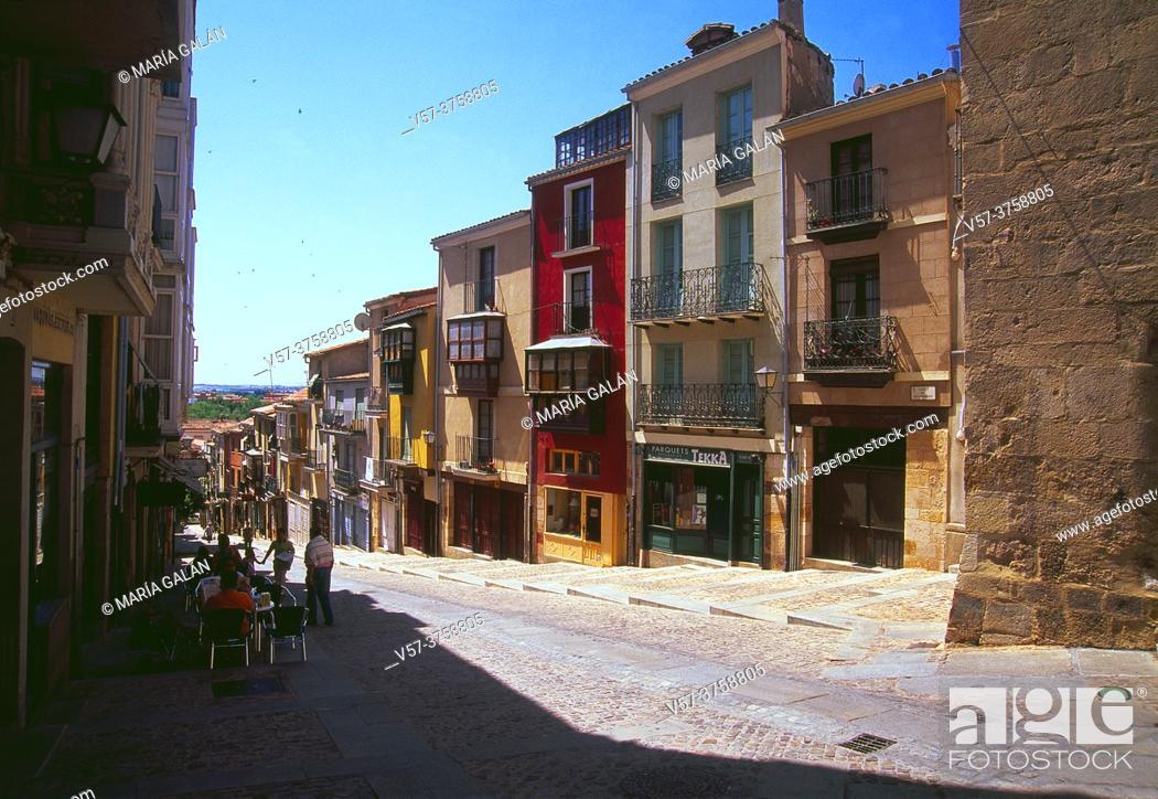 Stock Photo: Balborraz street. Zamora, Spain.